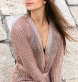 Metallic knit cardigan