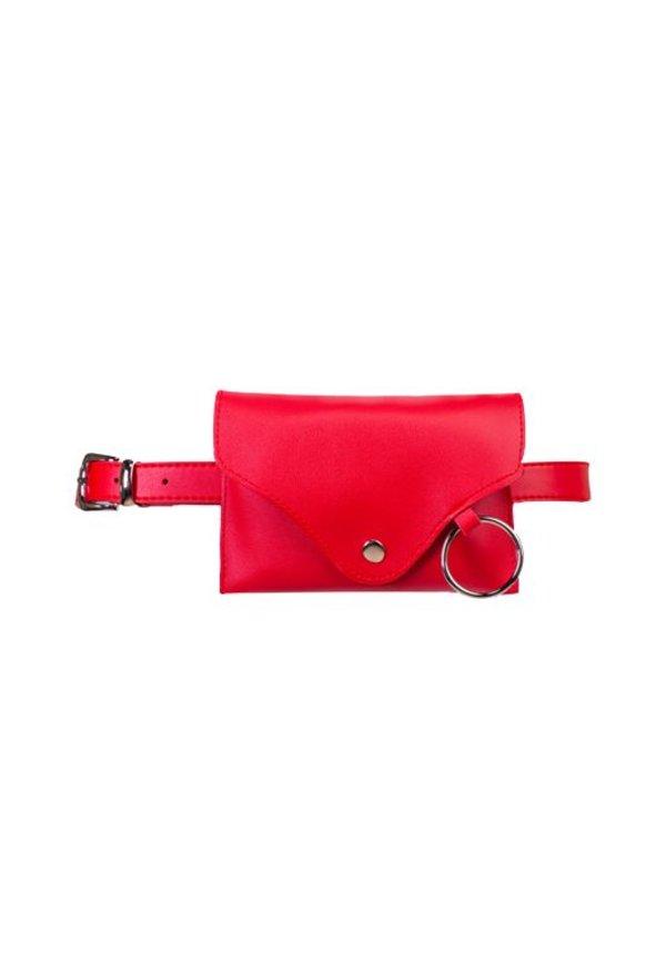 PLAIN BELT BAG RED