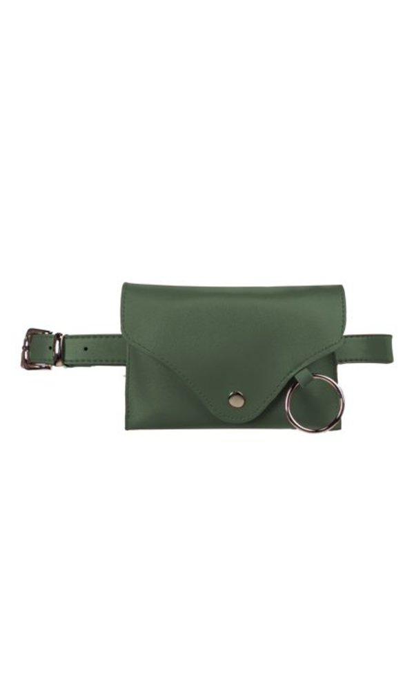 Plain belt bag green