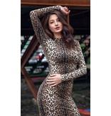 Nikki leopard dress