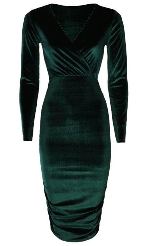 VELVET DRESS EMERALD