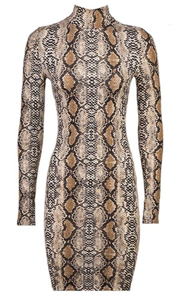 Kylie snake dress