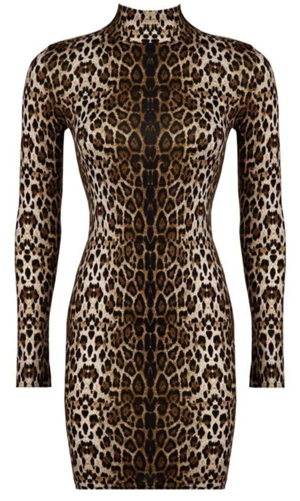 Nikki leopard dress