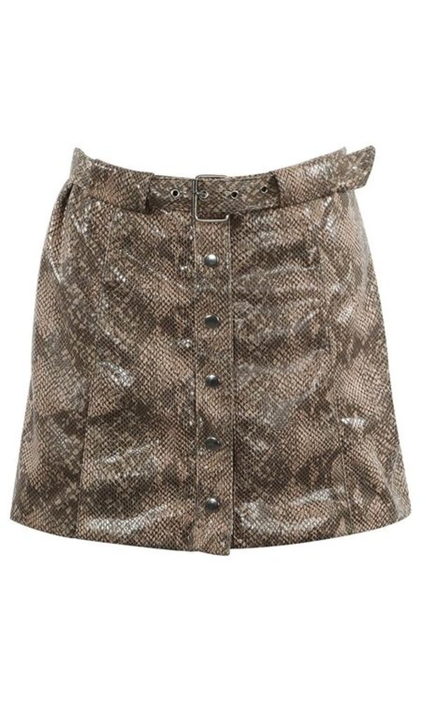 Laurel snake skirt
