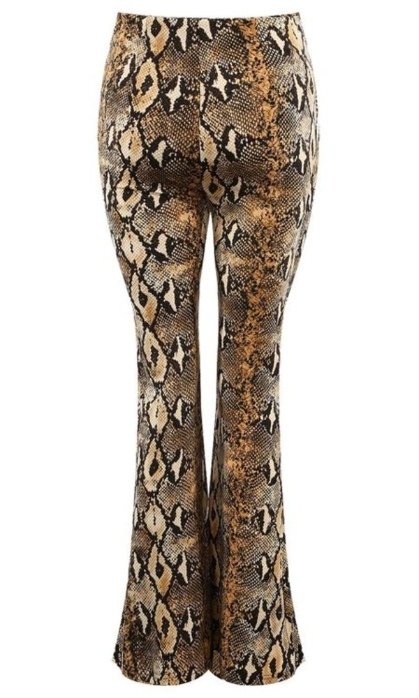 Riley snake flare pants