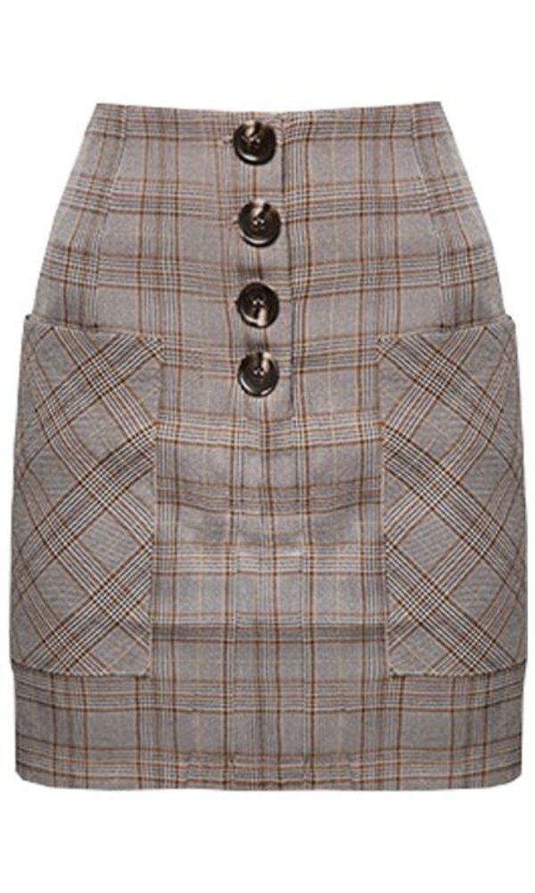 FENNA CHECKERED SKIRT