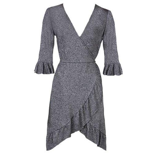 ZOE GLITTER WRAP DRESS