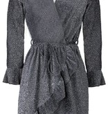 KATIE GLITTER WRAP DRESS
