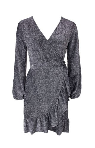 MAYRA GLITTER WRAP DRESS