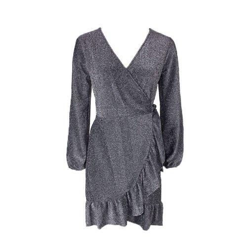 MAYRA GLITTER WRAP DRESS