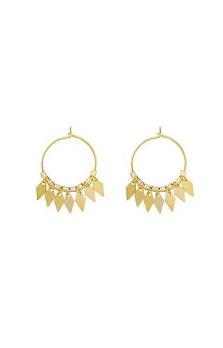 GOLDEN SQUARES EARRINGS