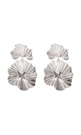 CORAL FLOWER EARRINGS