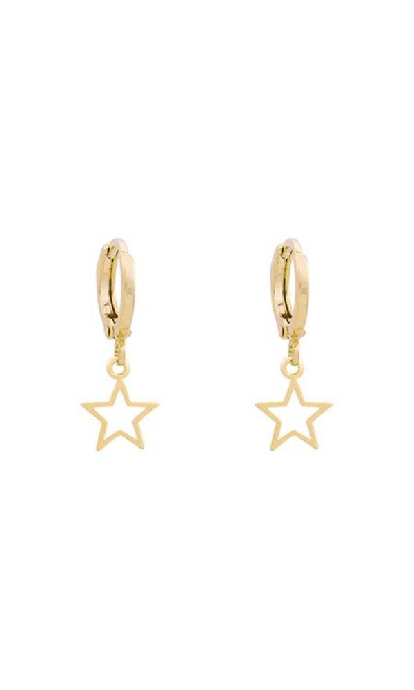 GOLD GALAXY STAR EARRINGS