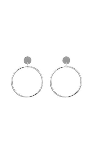 SILVER BIG HOOPS EARRINGS