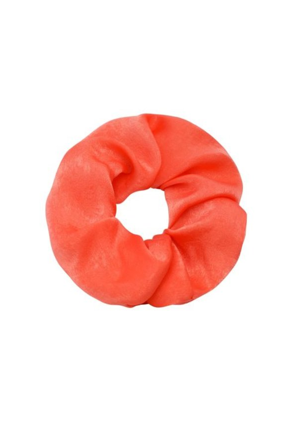SATIN ORANGE SCRUNCHIE