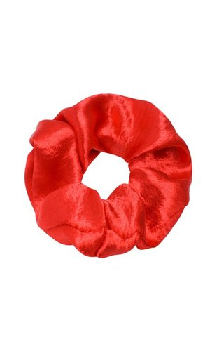 SHINY SATIN RED SCRUNCHIE