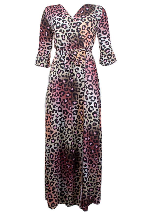PLEUN LEOPARD MAXI DRESS