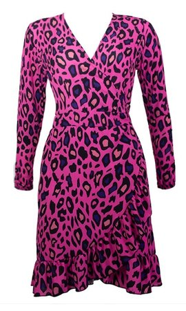 SERA LEOPARD WRAP DRESS