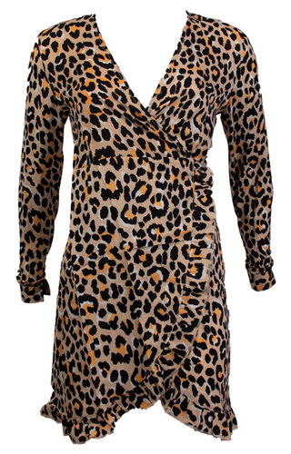 ELLEN LEOPARD WRAP DRESS