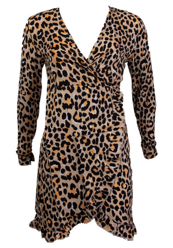 ELLEN LEOPARD WRAP DRESS
