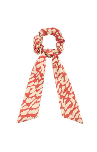 RED LEO SCARF SCRUNCHIE