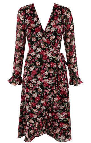 MAUD FLOWER WRAP DRESS