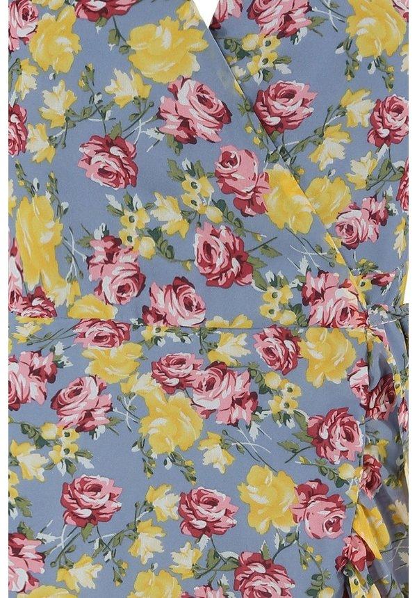 MAUD FLOWER WRAP DRESS