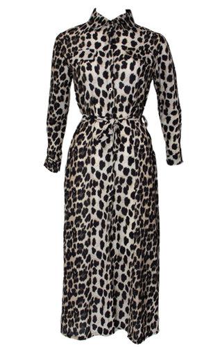 JANE LEOPARD MAXI DRESS