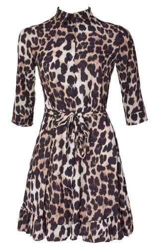 AMBER LEOPARD DRESS