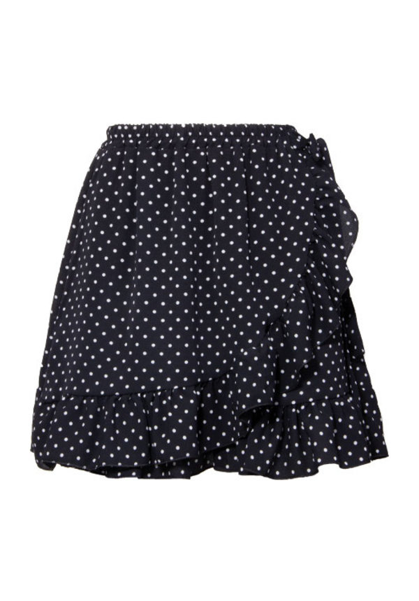 DOTTED WRAP SKIRT