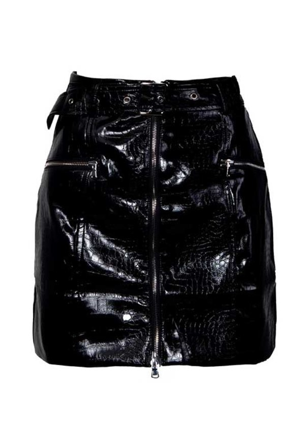 IVI LEATHER SKIRT