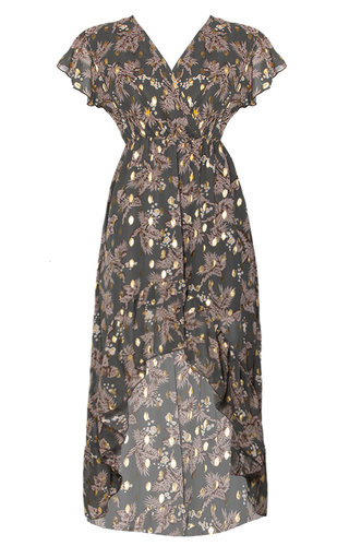 MEGAN GOLDEN FLAKES DRESS