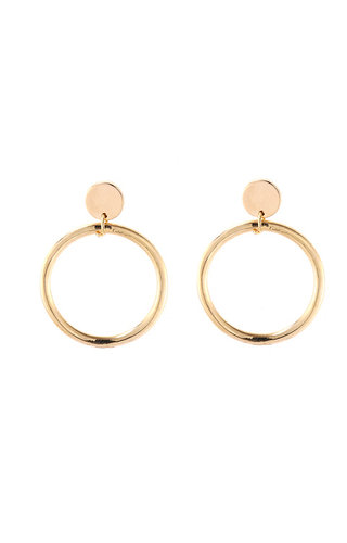 GOLD BIG HOOPS EARRINGS