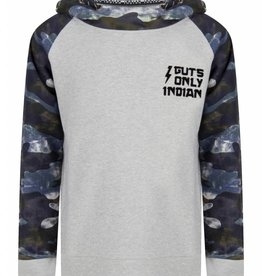 Indian Blue Jeans Hooded Raglan Army