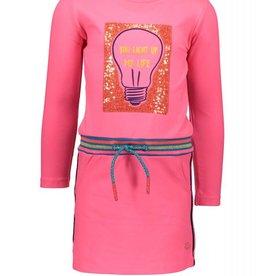 Kidz-art Girls Dress l/s Rib Waist