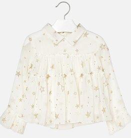 Mayoral Stars gauze blouse