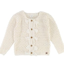 Carrément Beau Girls Ivory Knitted Cardigan