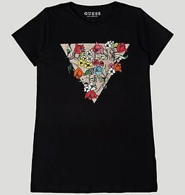 Guess T-SHIRT WITH FLORAL LOGO TRIANGLE