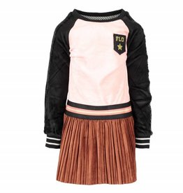 Like Flo Velours Raglan Dress Plisse Skirt