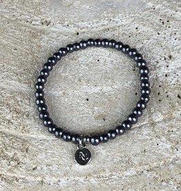 Miracles Bracelet Dark Grey Pearls