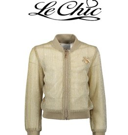 Le Chic Gold Bomber Pleated Glitter