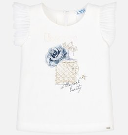 Mayoral Sleeveless Perfume Print T-Shirt