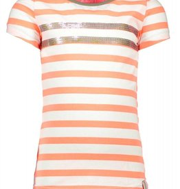 B.Nosy Stripe Shirt With Sequinces Rows