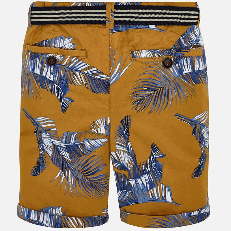 Mayoral Printed Shorts With Belt