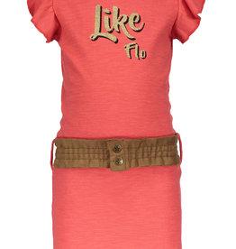 Like Flo Jersey Ruffle Dress