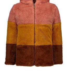 Like Flo Reversible Colourblock Fur Jacket