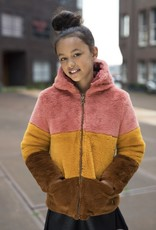 Like Flo Reversible Colourblock Fur Jacket
