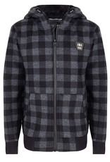 Indian Blue Jeans HOODED ZIP TEDDY CHECK