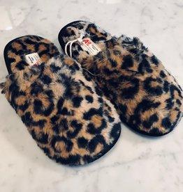 Ao76 Leopard Fur Slippers