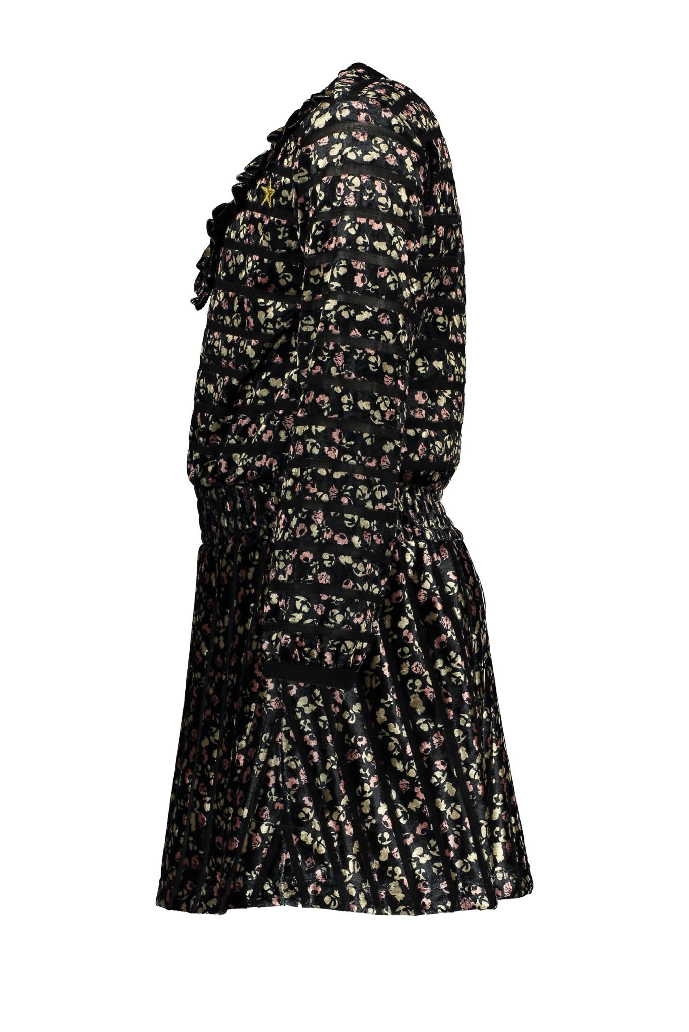 Like Flo Flower Velours Dress